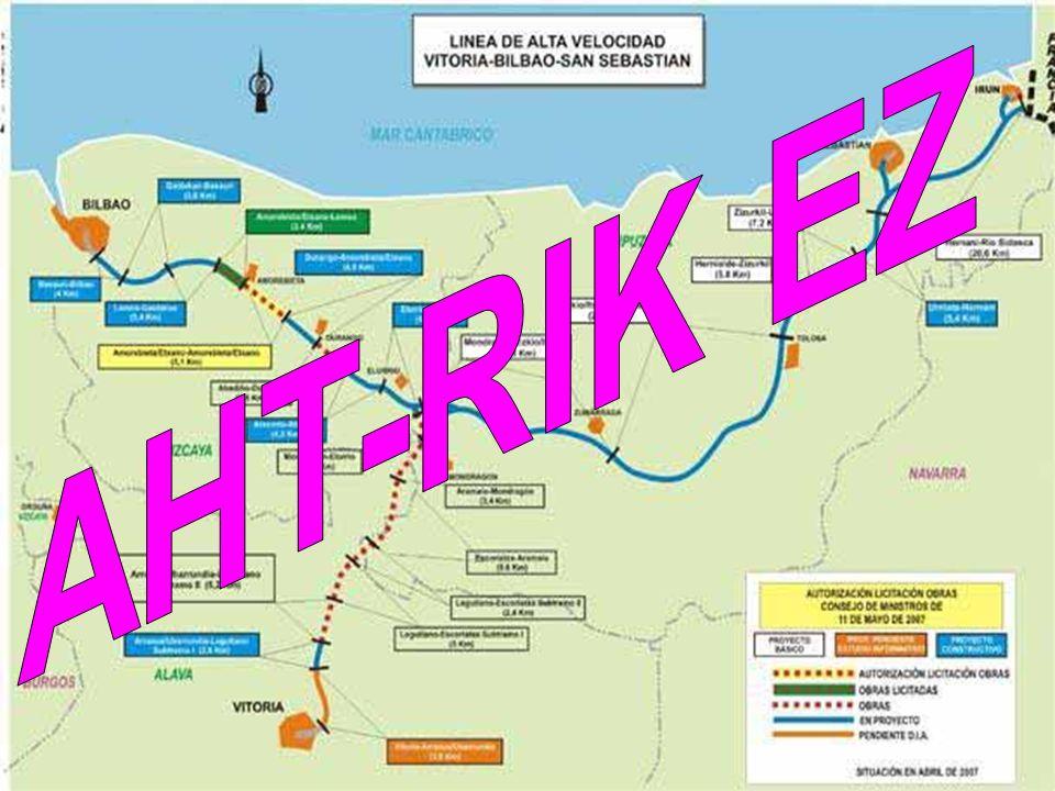 El TAV afectará directamente al 17% de los municipios (683 en total) de Euskal Herria: el 40% de los municipios de Guipúzcoa; el 32% de los municipios