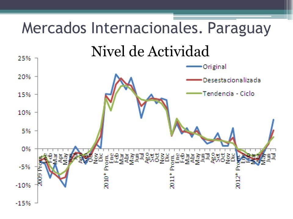 Mercados Internacionales. Paraguay Nivel de Actividad