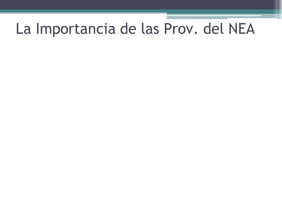 La Importancia de las Prov. del NEA