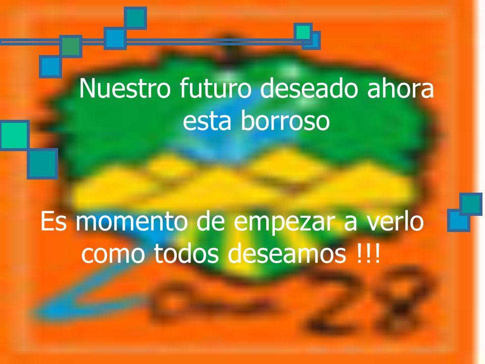 Nuestro futuro deseado ahora esta borroso Es momento de empezar a verlo como todos deseamos !!!