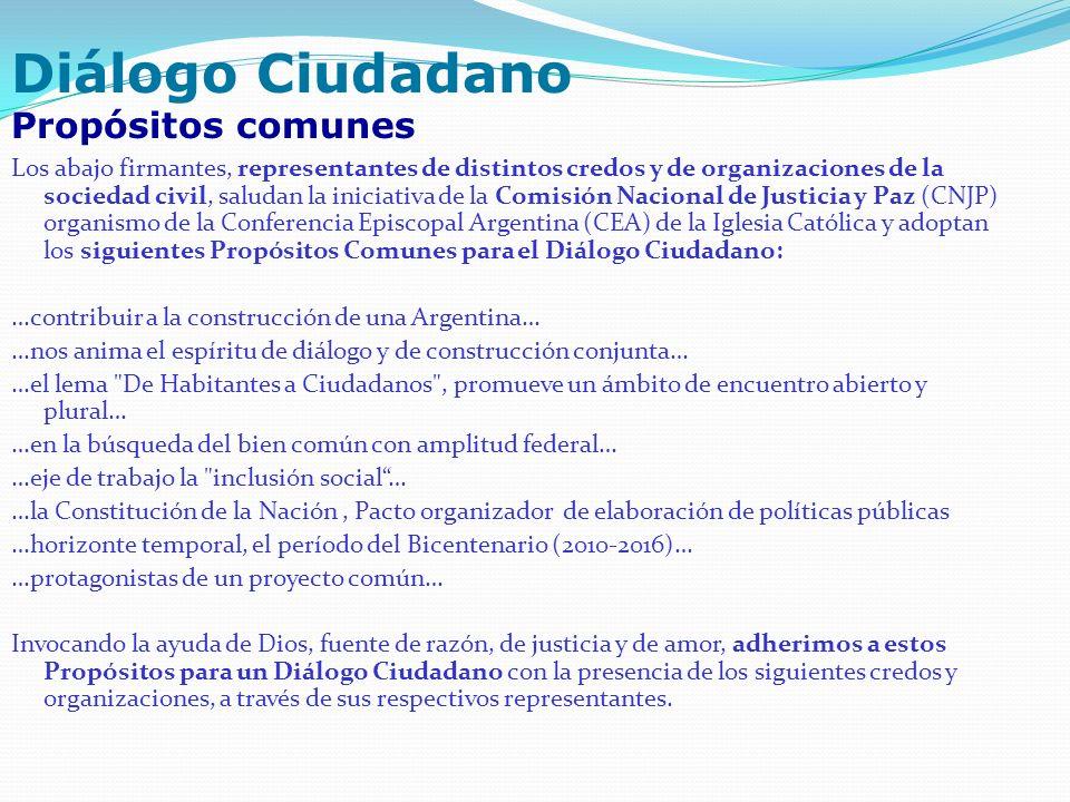 Los abajo firmantes, representantes de distintos credos y de organizaciones de la sociedad civil, saludan la iniciativa de la Comisión Nacional de Jus