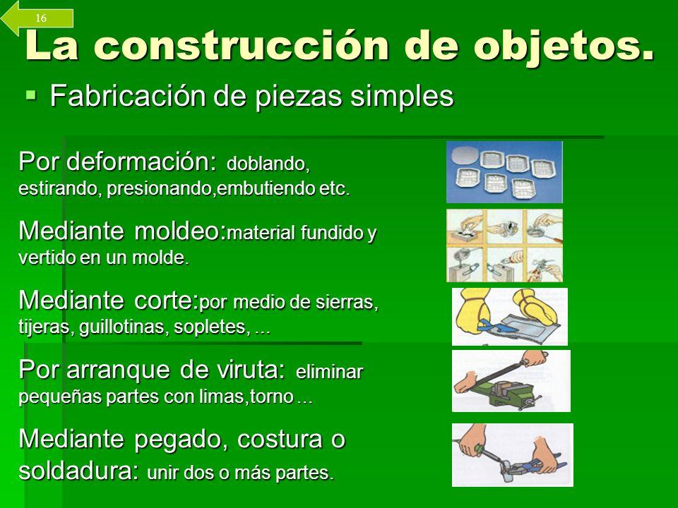 La construcción de objetos.