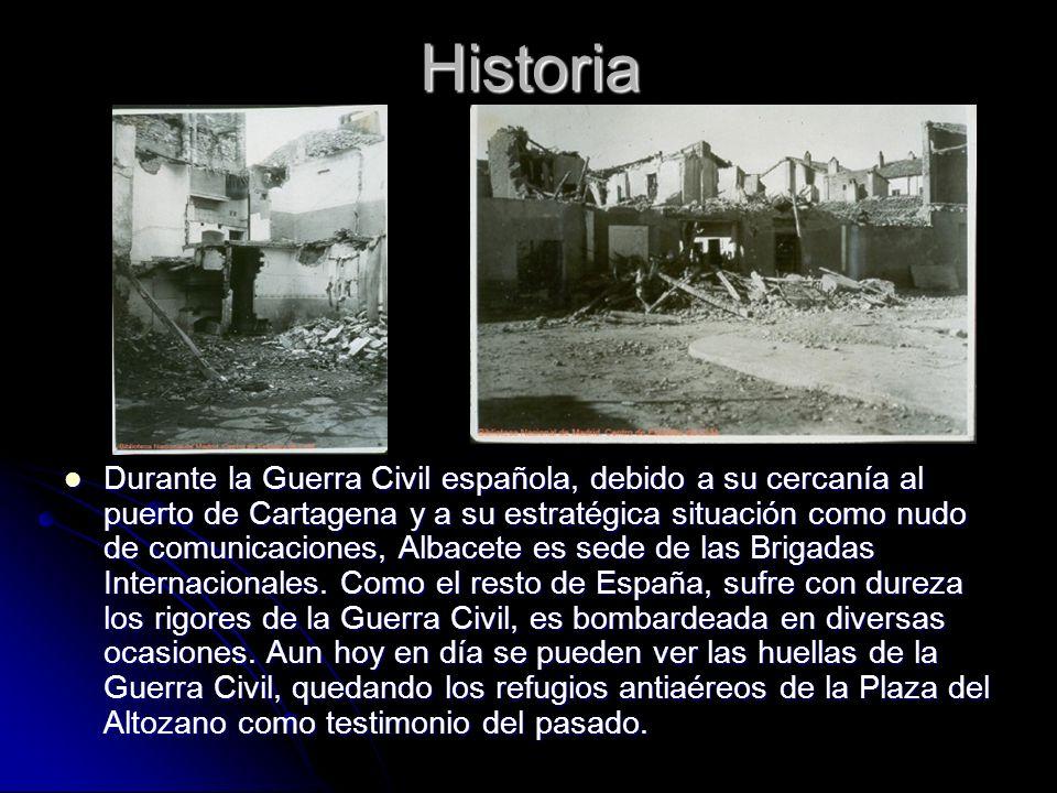 Historia Durante la Guerra Civil española, debido a su cercanía al puerto de Cartagena y a su estratégica situación como nudo de comunicaciones, Albac