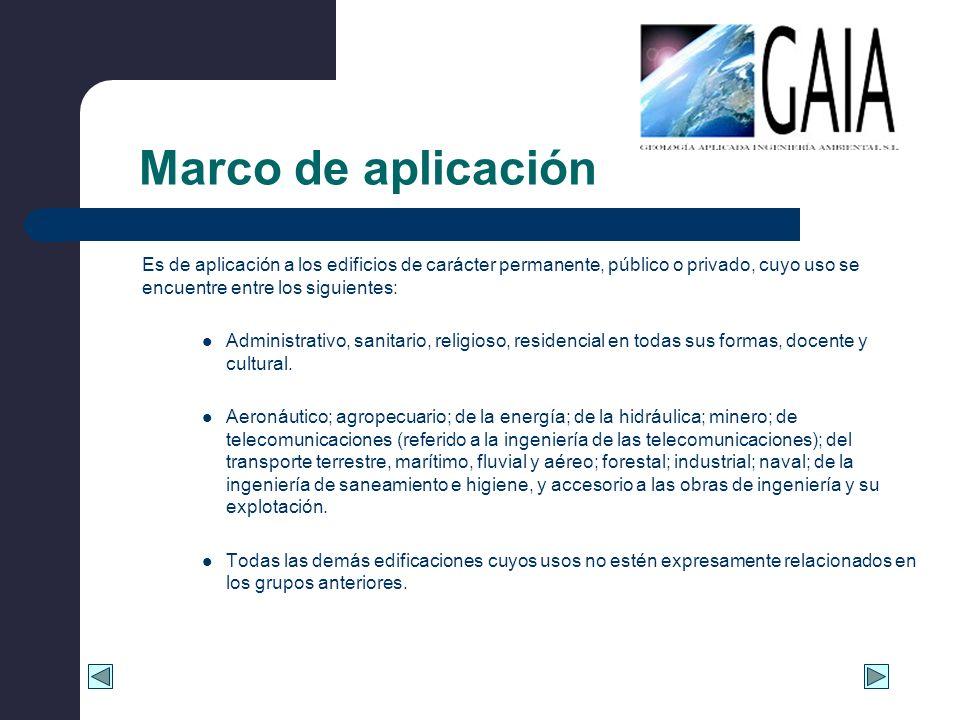 Marco de aplicación Es de aplicación a los edificios de carácter permanente, público o privado, cuyo uso se encuentre entre los siguientes: Administra