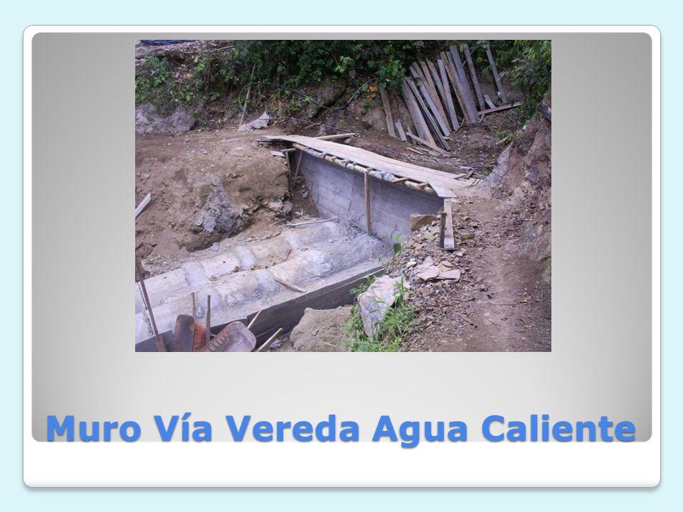 Muro Vía Vereda Agua Caliente