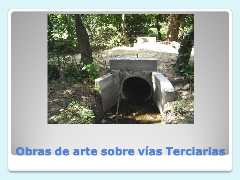 Obras de arte sobre vías Terciarias