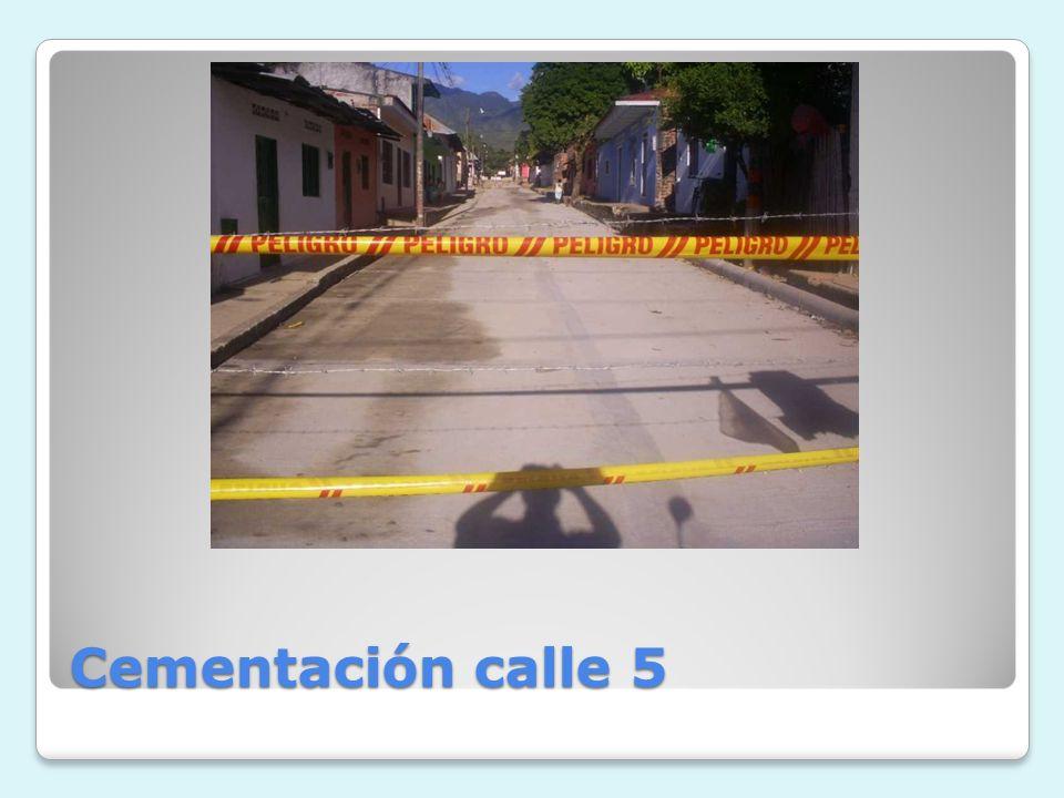 Cementación calle 5