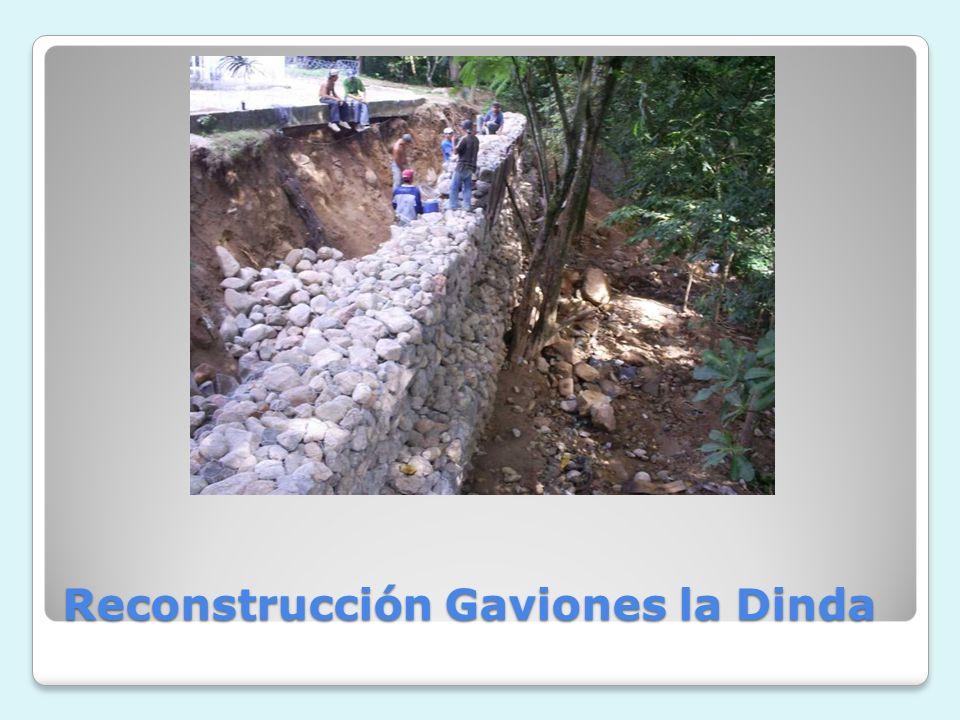 Reconstrucción Gaviones la Dinda