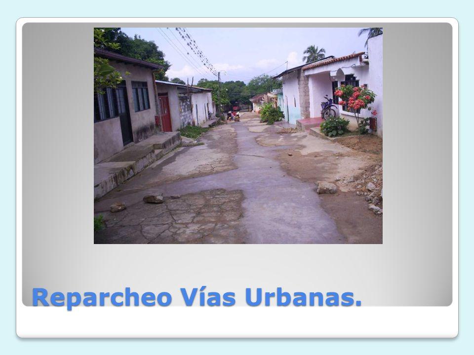 Reparcheo Vías Urbanas.