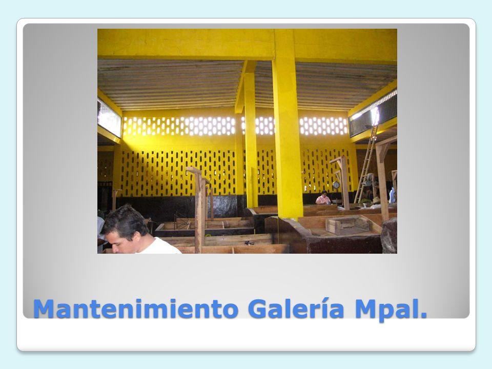 Mantenimiento Galería Mpal.
