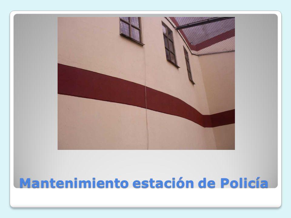Mantenimiento estación de Policía