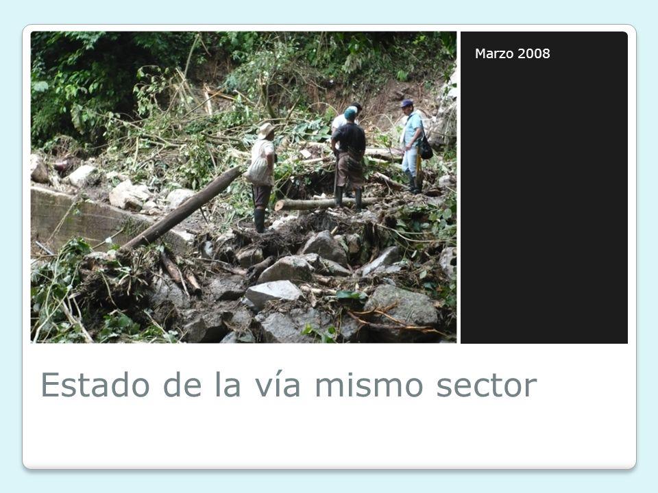 Estado de la vía mismo sector Marzo 2008