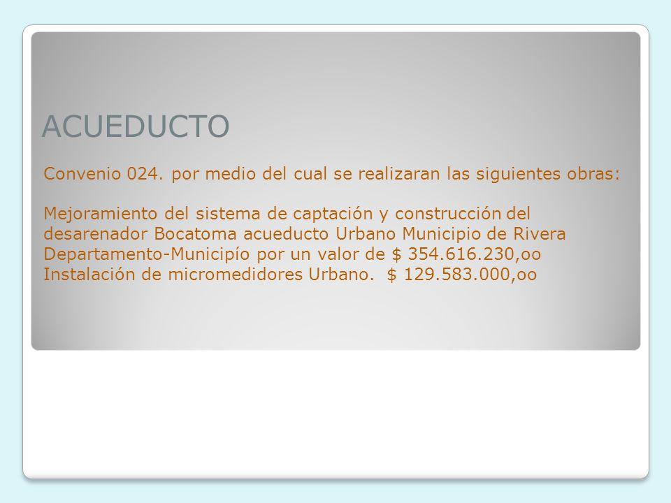 ACUEDUCTO Convenio 024.