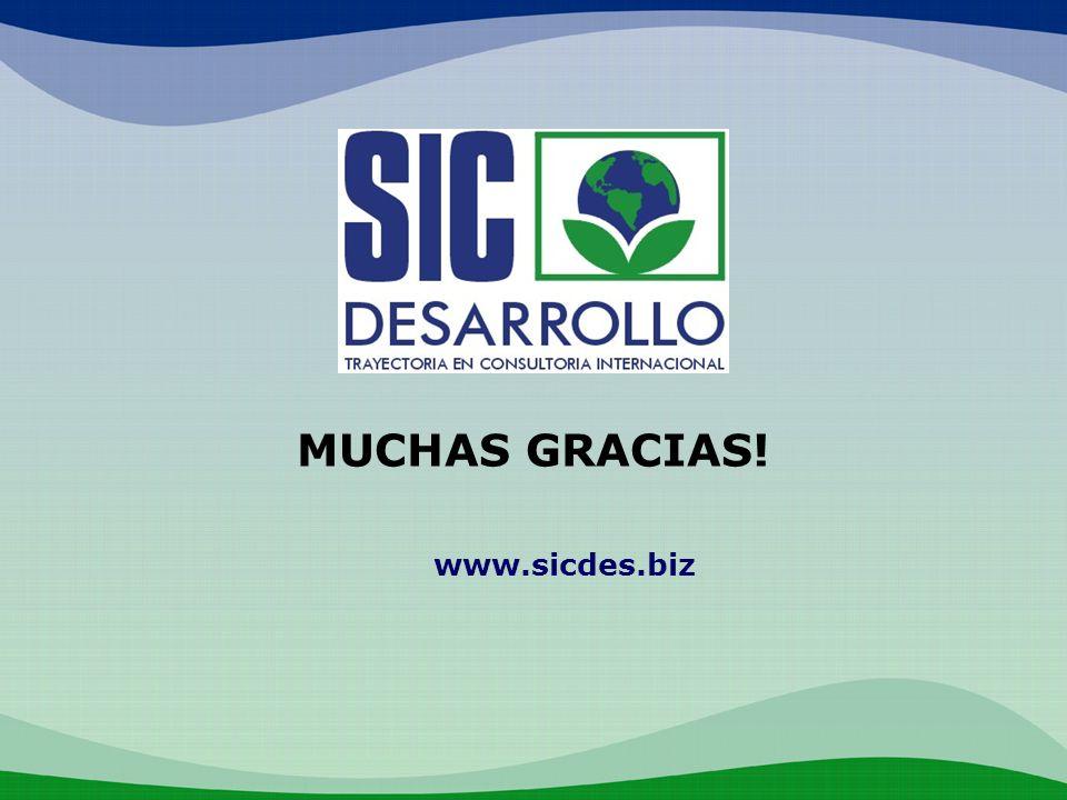 MUCHAS GRACIAS! www.sicdes.biz