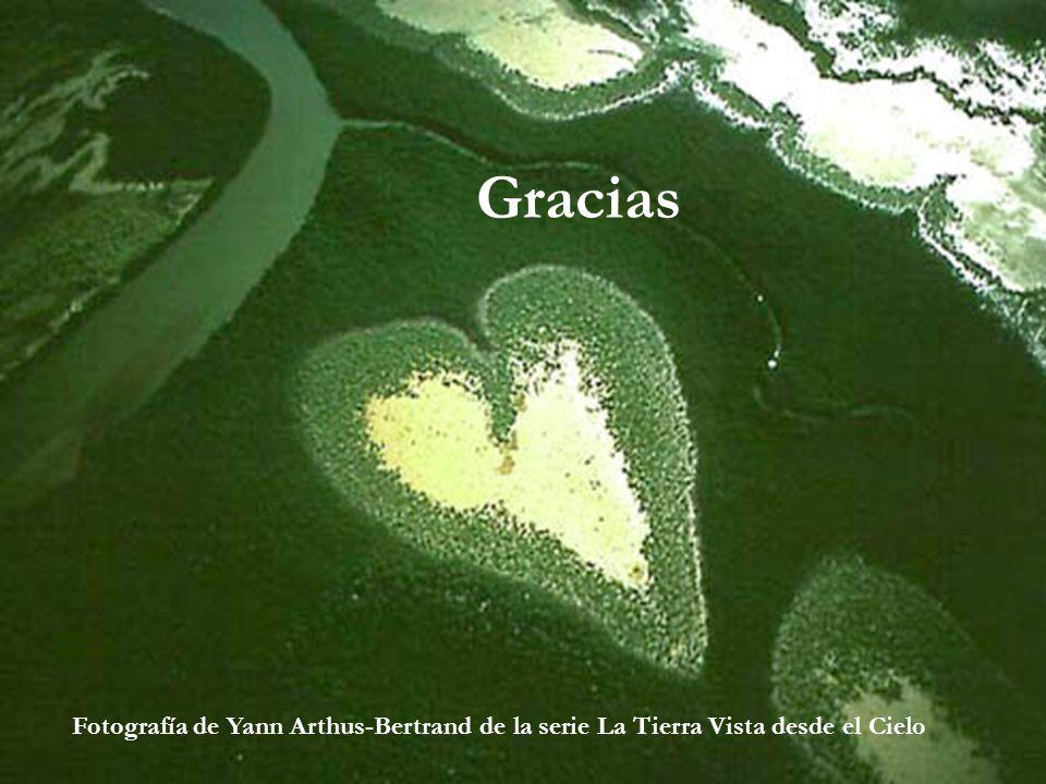 Gracias Fotografía de Yann Arthus-Bertrand de la serie La Tierra Vista desde el Cielo