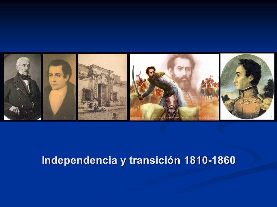 Independencia y transición 1810-1860