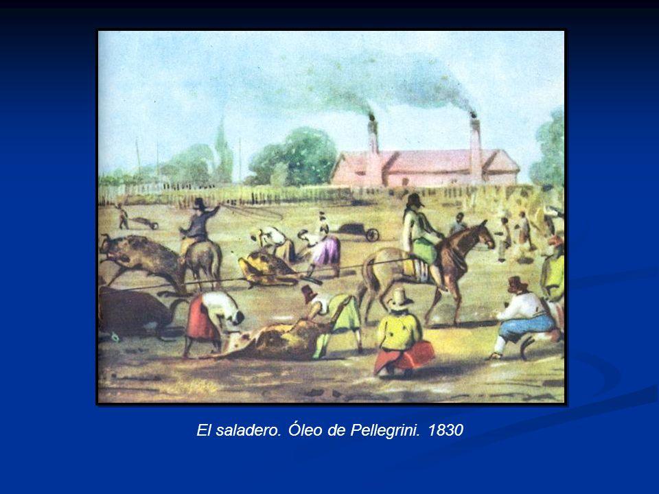 El saladero. Óleo de Pellegrini. 1830