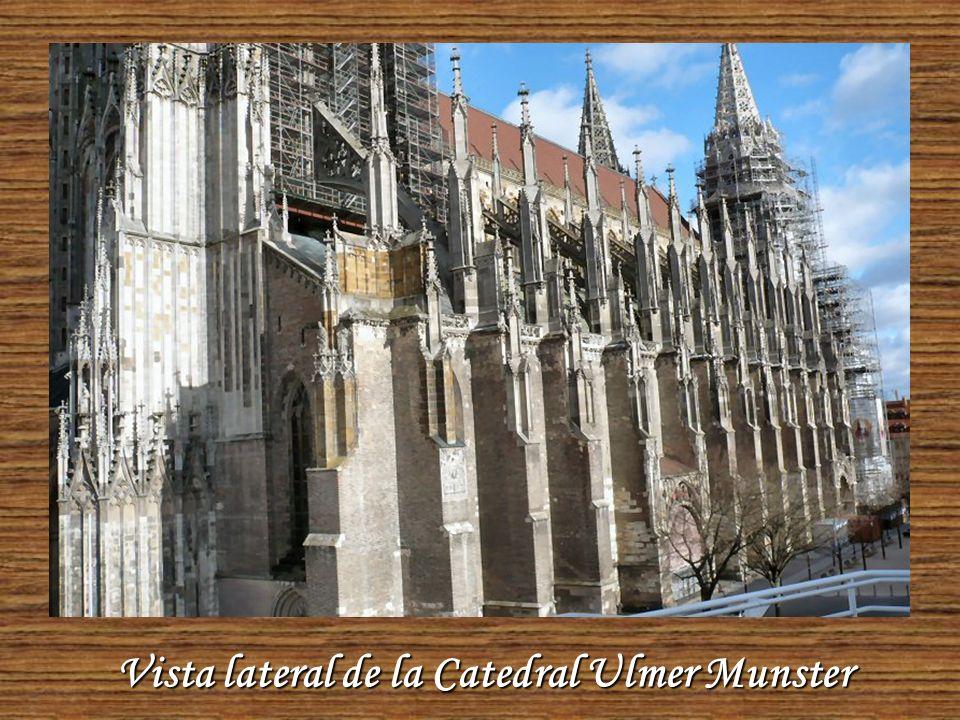 Ulmer Munster, la Catedral más alta de Europa. Desde la cima se tiene una vista maravillosa sobre los tejados de Ulm, el río Danubio y bosques y campo