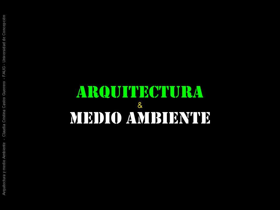 Arquitectura y medio Ambiente - Claudia Cristina Castro Guerrero - FAUG - Universidad de Concepción arquitectura Medio ambiente &
