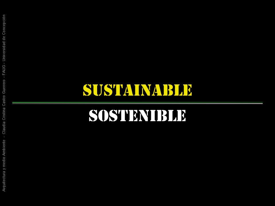 Arquitectura y medio Ambiente - Claudia Cristina Castro Guerrero - FAUG - Universidad de Concepción sustainable Sostenible