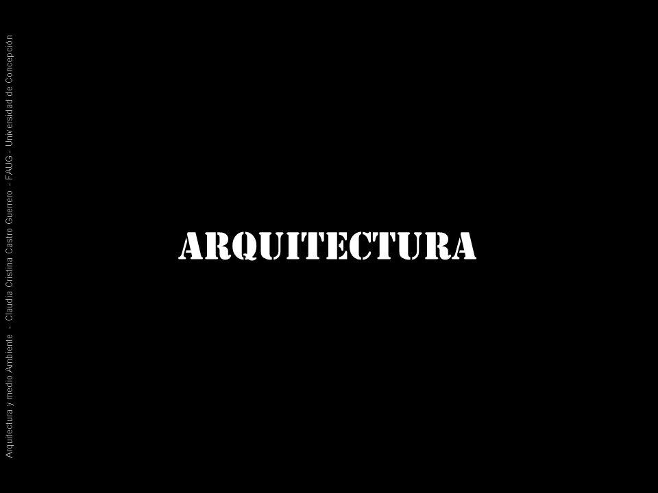 Arquitectura y medio Ambiente - Claudia Cristina Castro Guerrero - FAUG - Universidad de Concepción ¿qué tiene que ver la arquitectura en todo esto?