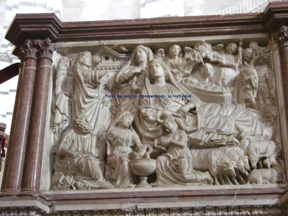 Panel del púlpito representando la Adoración de los Magos