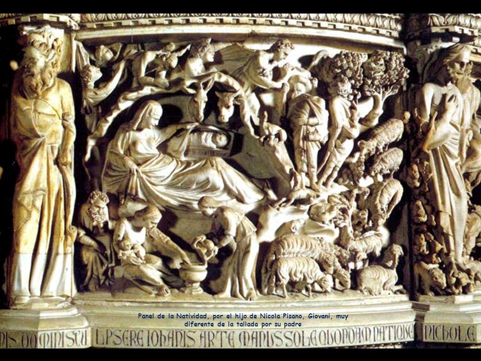 Él es Giovani, el hijo de Nicola Pisano que talló el púlpito de la catedral, a imitación del del baptisterio.
