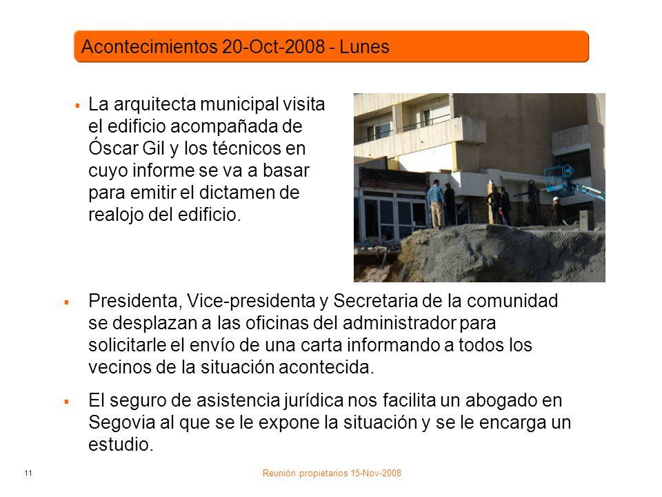 11 La arquitecta municipal visita el edificio acompañada de Óscar Gil y los técnicos en cuyo informe se va a basar para emitir el dictamen de realojo del edificio.