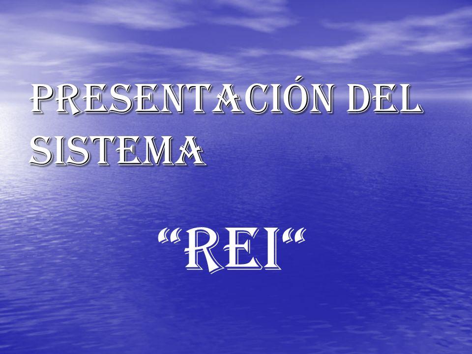 PRESENTACIÓN DEL SISTEMA REI
