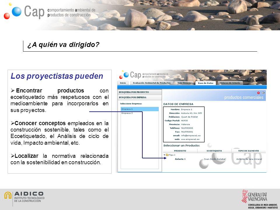 Mapa Web En Cap se puede encontrar información sobre Construcción Sostenible y Productos más respetuosos con el medioambiente.