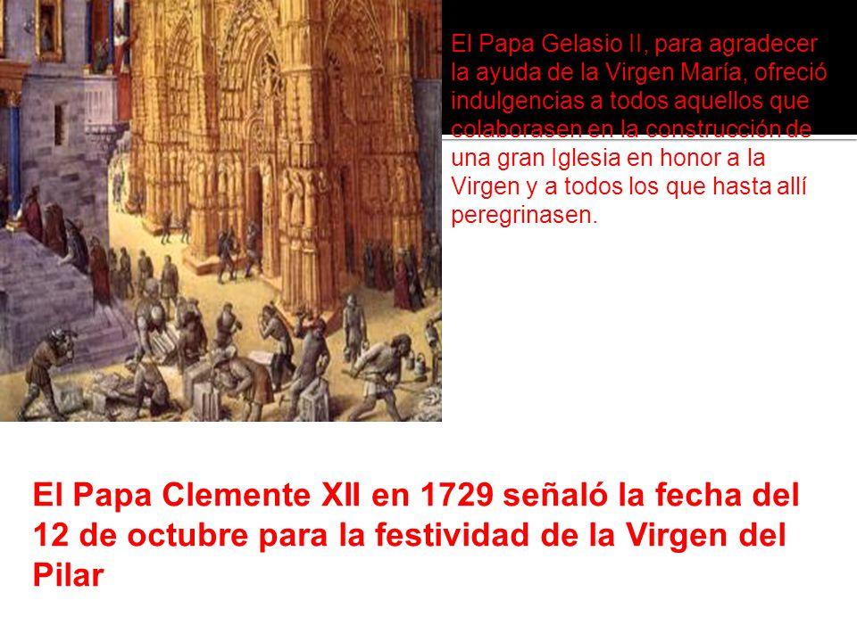 El Papa Gelasio II, para agradecer la ayuda de la Virgen María, ofreció indulgencias a todos aquellos que colaborasen en la construcción de una gran I