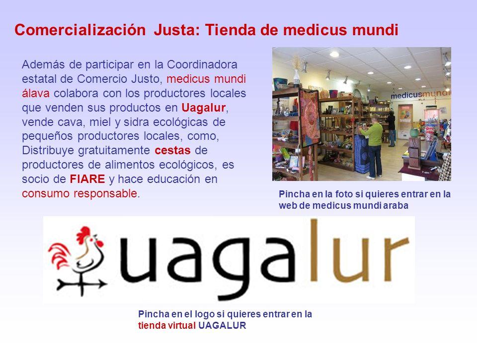 Comercialización Justa: Tienda de medicus mundi Pincha en la foto si quieres entrar en la web de medicus mundi araba Además de participar en la Coordi