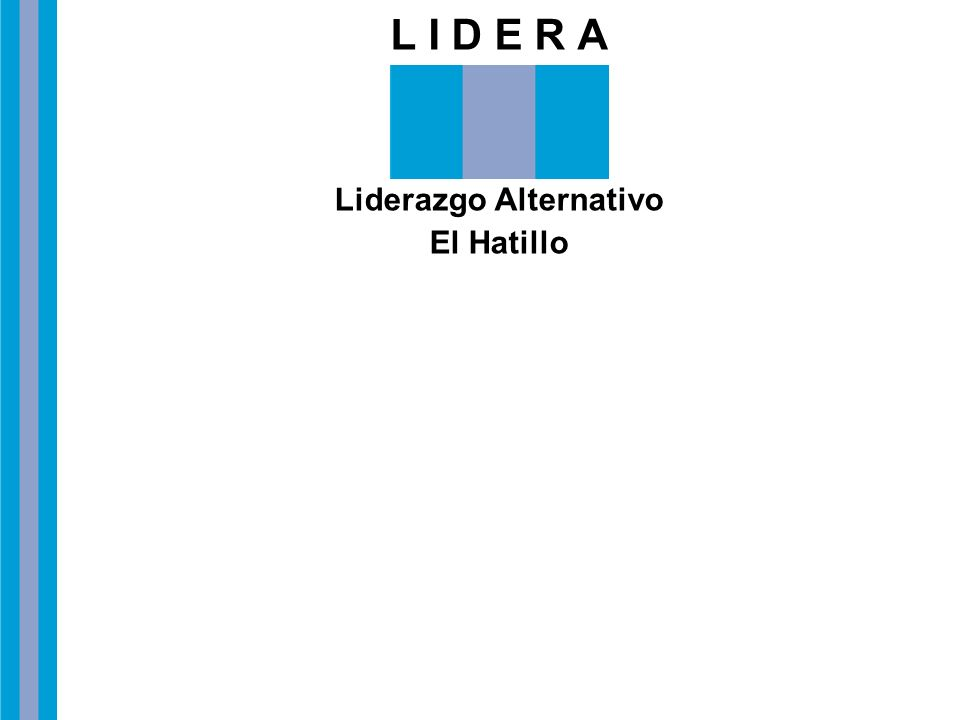 L I D E R A Liderazgo Alternativo El Hatillo Website: www.lideraweb.tk Correo Electrónico: lidera@cantv.net Teléfono: 0212 4257085 Plaza Bolívar, Calle Escalona, Casa 22-5, Piso 1, El Hatillo.