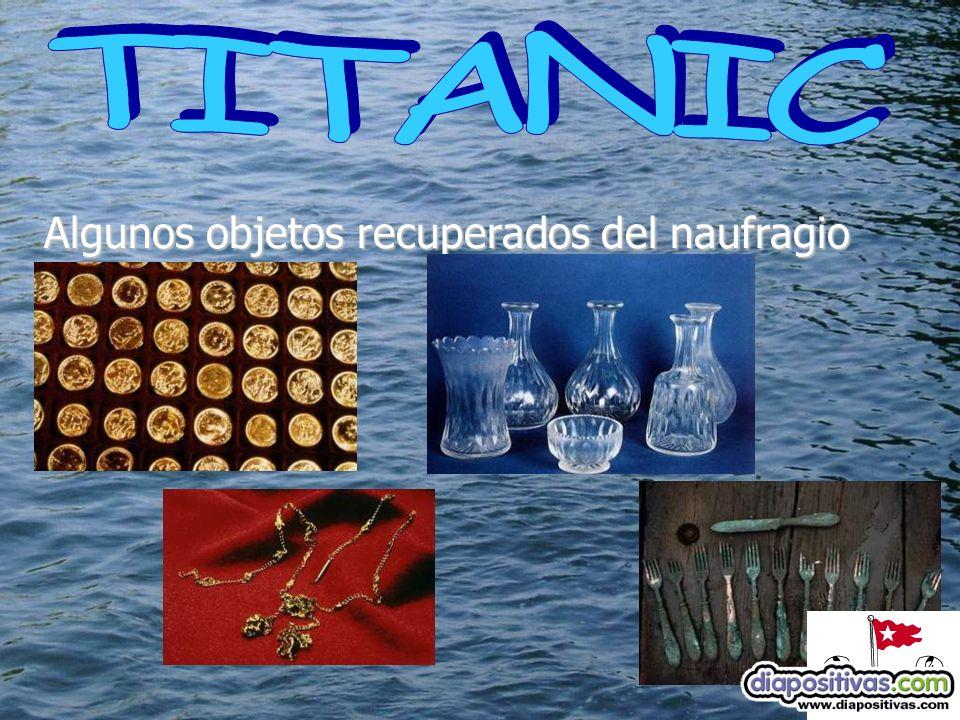 Algunos objetos recuperados del naufragio