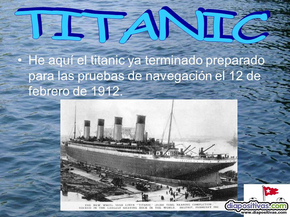 Los datos generales son: El barco peso: 46.329 toneladas.