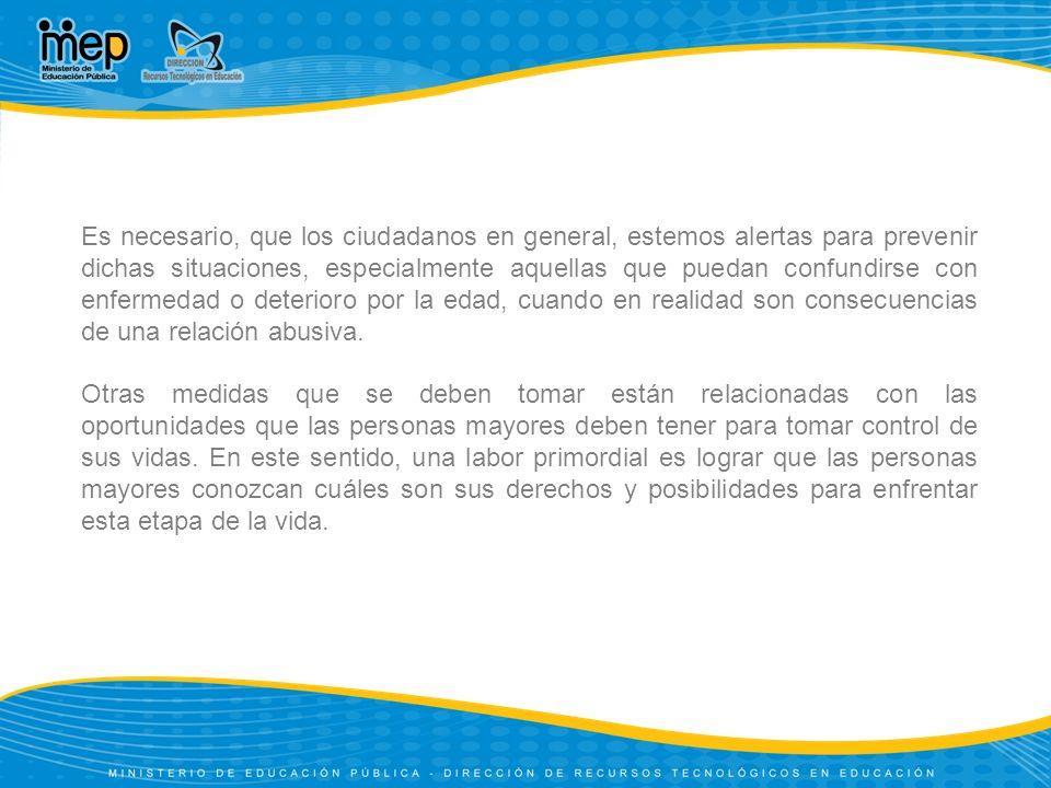 Instituciones en Costa Rica que brindan apoyo a los Adultos mayores Consejo Nacional de la Persona Adulta Mayor (CONAPAM)CONAPAM Impulsa la atención de las personas adultas mayores por parte de las entidades públicas y privadas y vela por el funcionamiento adecuado de los programas y servicios destinados a ellas.