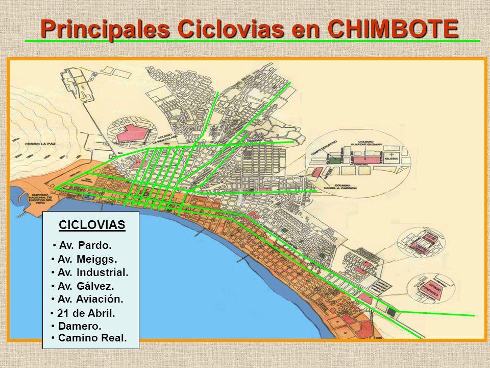 Principales Ciclovias en CHIMBOTE CICLOVIAS Av. Pardo.
