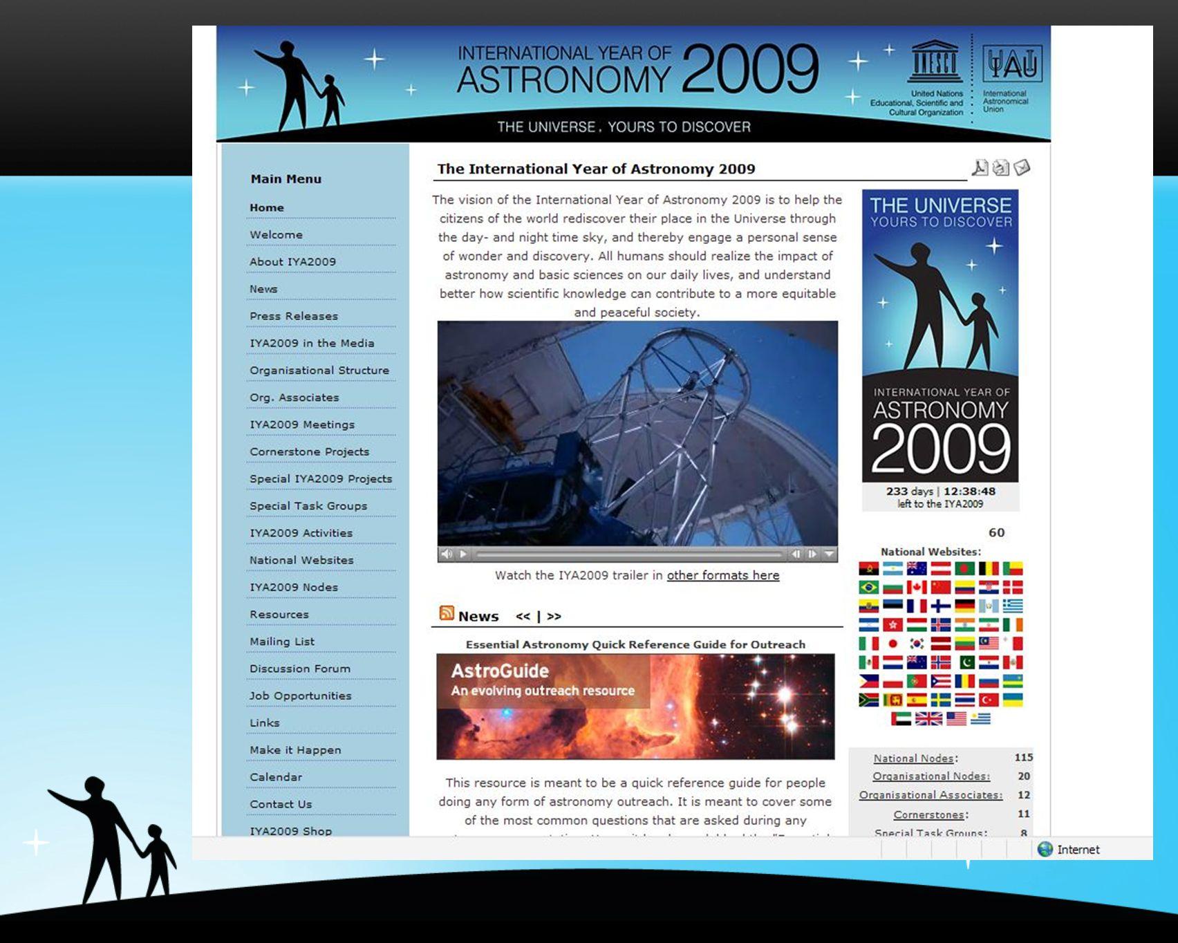 www.astronomia2009.org.uy Actividades Nacionales