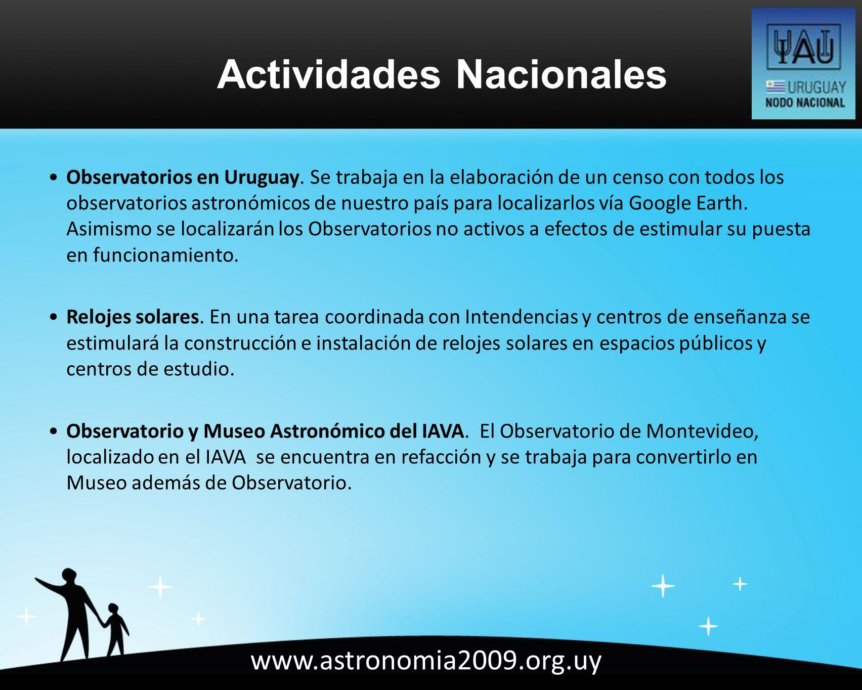www.astronomia2009.org.uy Observatorios en Uruguay.