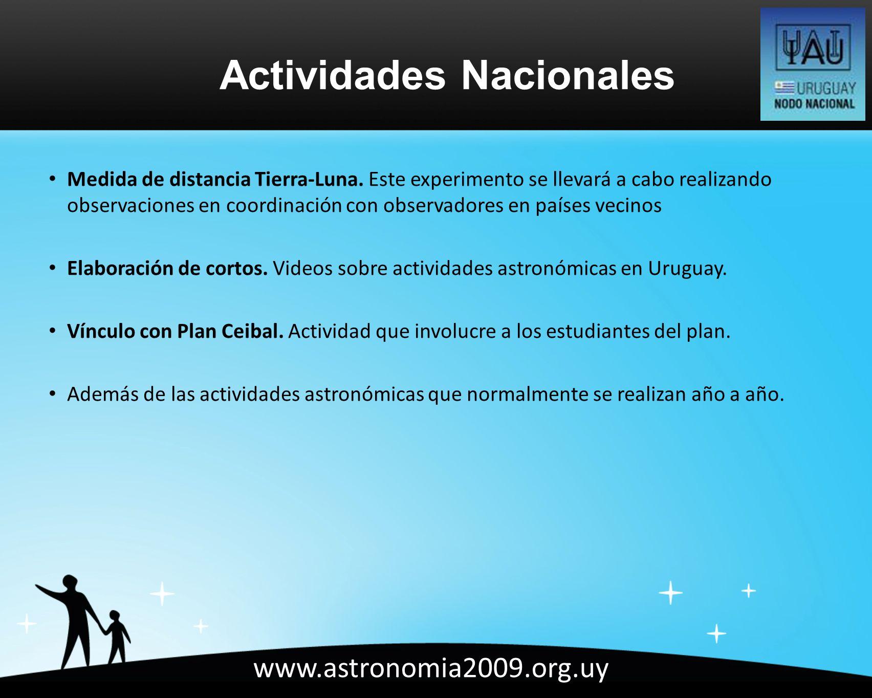 www.astronomia2009.org.uy Medida de distancia Tierra-Luna.