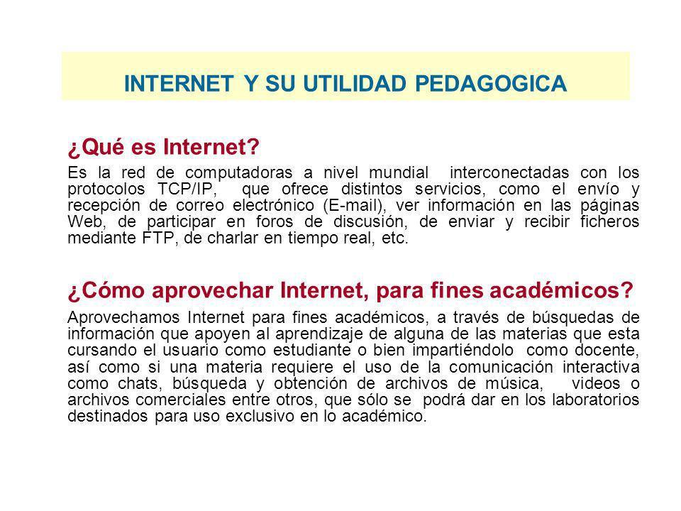 ¿Qué es Internet? Es la red de computadoras a nivel mundial interconectadas con los protocolos TCP/IP, que ofrece distintos servicios, como el envío y