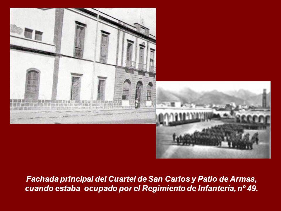 1850. Fecha construcción. Hospicio de San Carlos. Luego Cuartel de San Carlos.