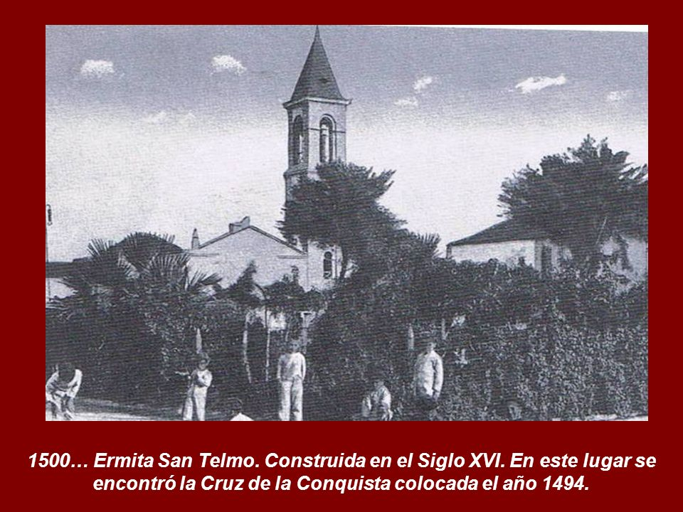 1494. La Cruz de la Conquista clavada en la Playa del Cabo.