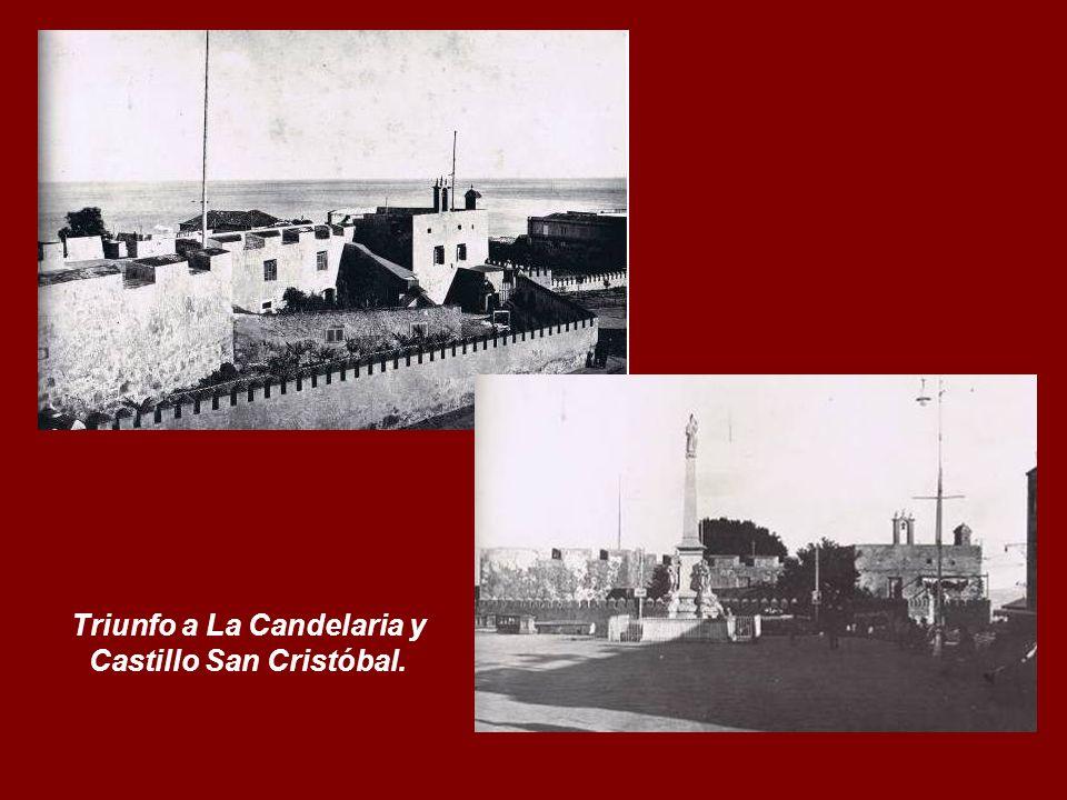 Fachada principal del Cuartel de San Carlos y Patio de Armas, cuando estaba ocupado por el Regimiento de Infantería, nº 49.