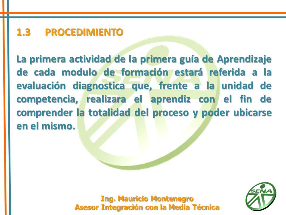 1.3PROCEDIMIENTO 1.3.4 Seleccione las técnicas e instrumentos de evaluación de acuerdo con las Actividades de Aprendizaje planteadas, teniendo en cuenta los criterios de evaluación y las Evidencias de Aprendizaje sugeridas en la Planeación Metodológica de E-A-E descritas en cada Unidad de Aprendizaje del Módulo de Formación.