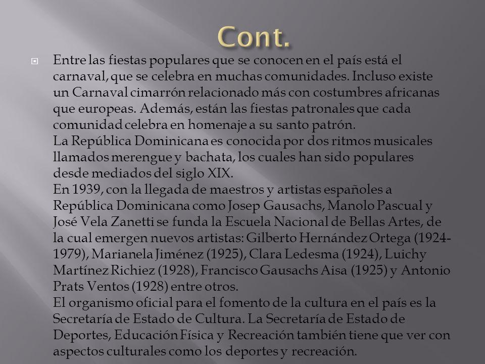Españoles peninsulares : A través de la conquista y colonización (1942) impusieron su cultura.