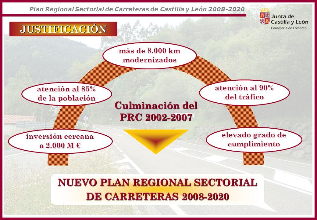 Plan Regional Sectorial de Carreteras de Castilla y León 2008-2020 RED DE ALTA CAPACIDAD nuevas autovías nuevas autovías 15 nuevas autovías 399 km CARRETERAkm M CL-501 Santa María del Tiétar-Piedralaves 1552,50 --------- Ávila – A-6 3075 CL-628 Medina de Pomar - Villarcayo 7,726,95 CL-622 León - La Bañeza 41,7104,25 CL-626 Villablino – Piedrafita de Babia 11,971,40 CL-626 La Magdalena - La Robla 1640 CL-631 Toreno - Páramo 16,6182,60 CL-613 Palencia - Paredes de Nava 1537,50 CL-615 Palencia - Carrión 42105 CL-510 Salamanca - Alba de Tormes 2050 CL-605 Segovia - Santa María Real de Nieva 2972,50 SG-20 (parte) Conexión CL-601 - CL-605 (Ronda Noroeste) 621 CL-101 Agreda - Almazán (N-111) 71,6179 CL-602 Medina del Campo – A-6 - CL-601 (Cuéllar) 53132,50 CL-600 Ronda Supersur (Simancas - Tudela de Duero) 23,358,25