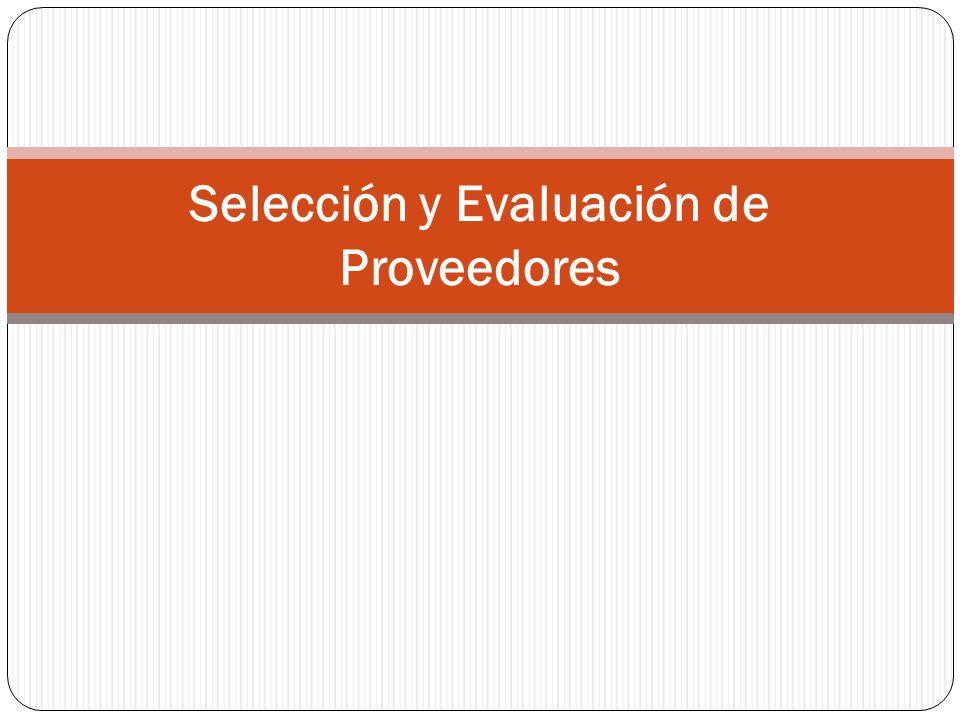 Formulación del proyecto Evaluación de propuestas Construcción del RFP Identificación de proveedores Selección de proveedor