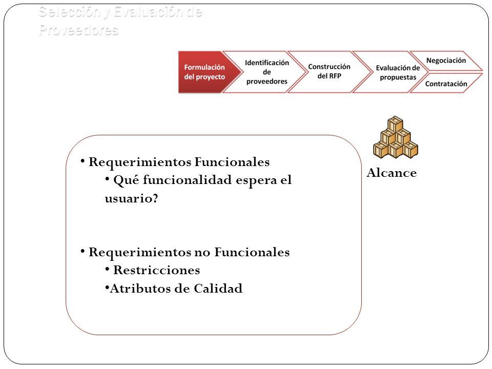 Equipo de trabajo Infraestructura Licencias y equipos de trabajo Dependencia y paralelización de actividades Capacitaciones Presupuesto Tiempo Selección y Evaluación de Proveedores