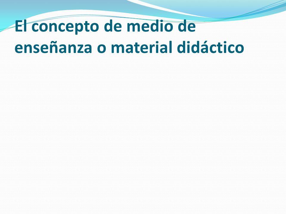 El concepto de medio de enseñanza o material didáctico